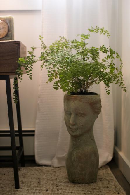 statue-bust-cement-plant-pot-interior-design